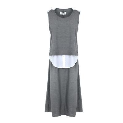 shirt layered detail dress